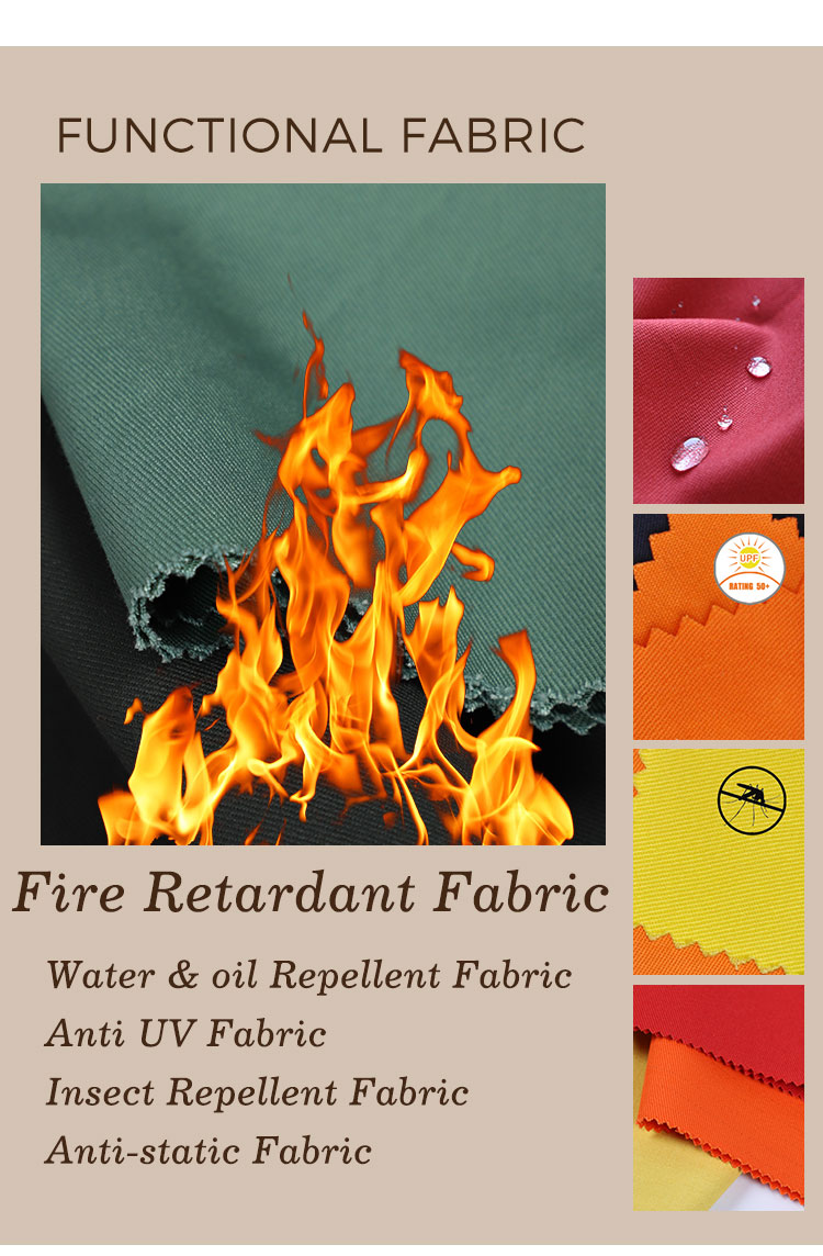 EN 11611 100 cotton flame retardant fabric for protective clothing