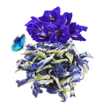 Organic blue dried butterfly pea flower beauty tea for anti age relieve stress Improve immunity and skin care