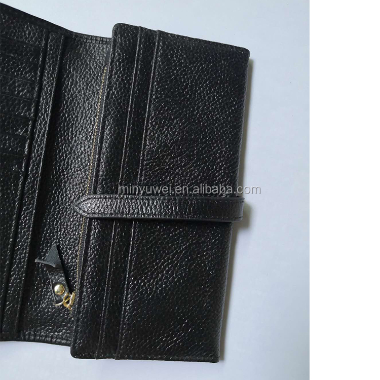 Custom Fashion durable genuine leather Lady wallet for women