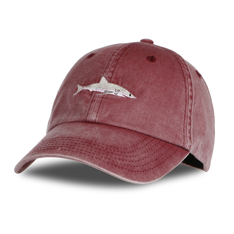 Wholesale Shark Embroidered Cotton Baseball Hat
