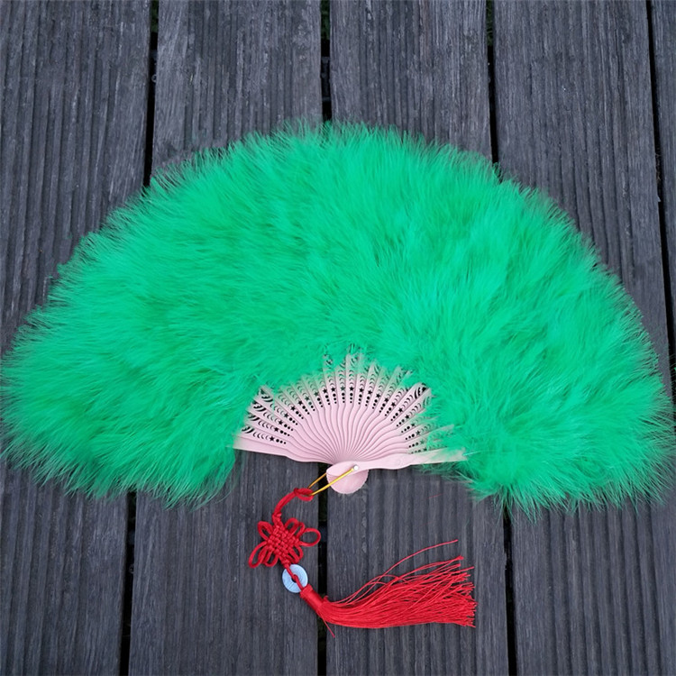 China Folding Colorful Feather Hand Fans for wedding