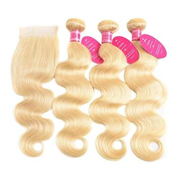 brazilian human virgin hair hd lace closure with 10A grade hair bundle/weaving/weft hair extensions very natural looking hot sel
