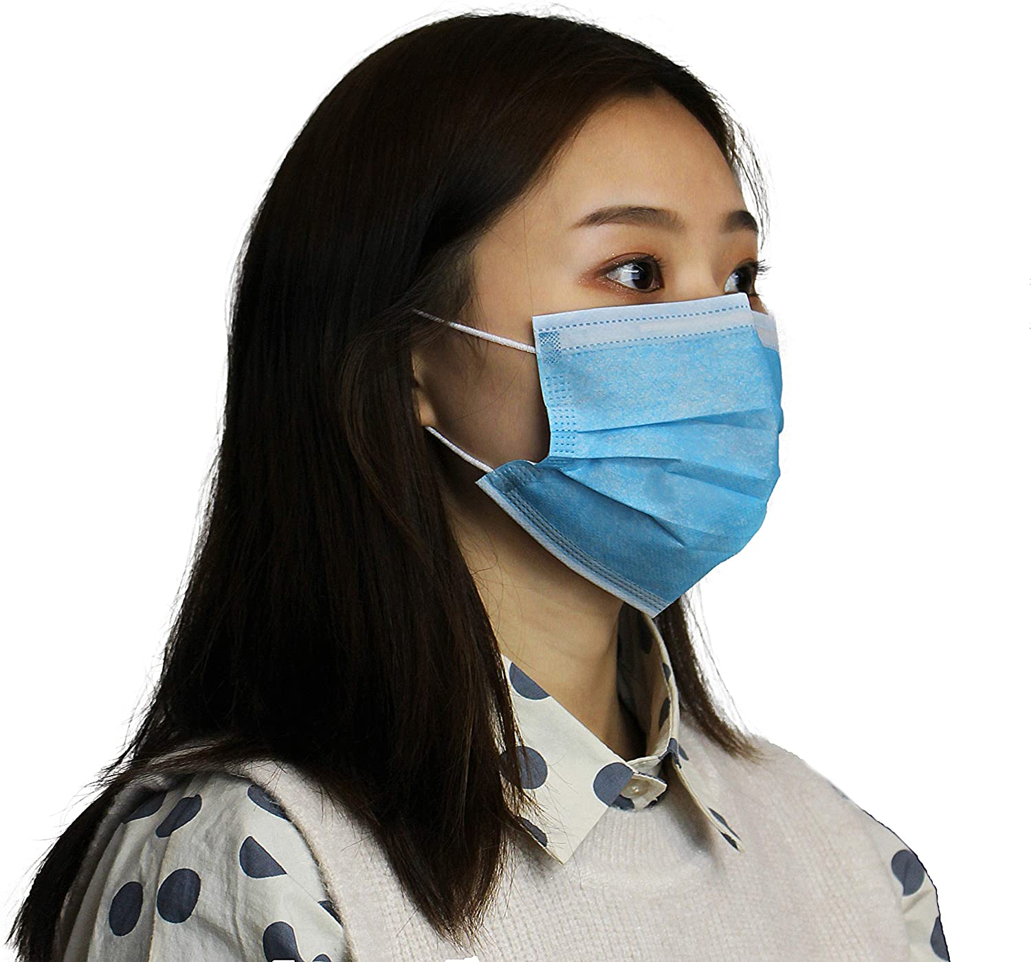 custom cheap china 3 ply disposable earloop face mask