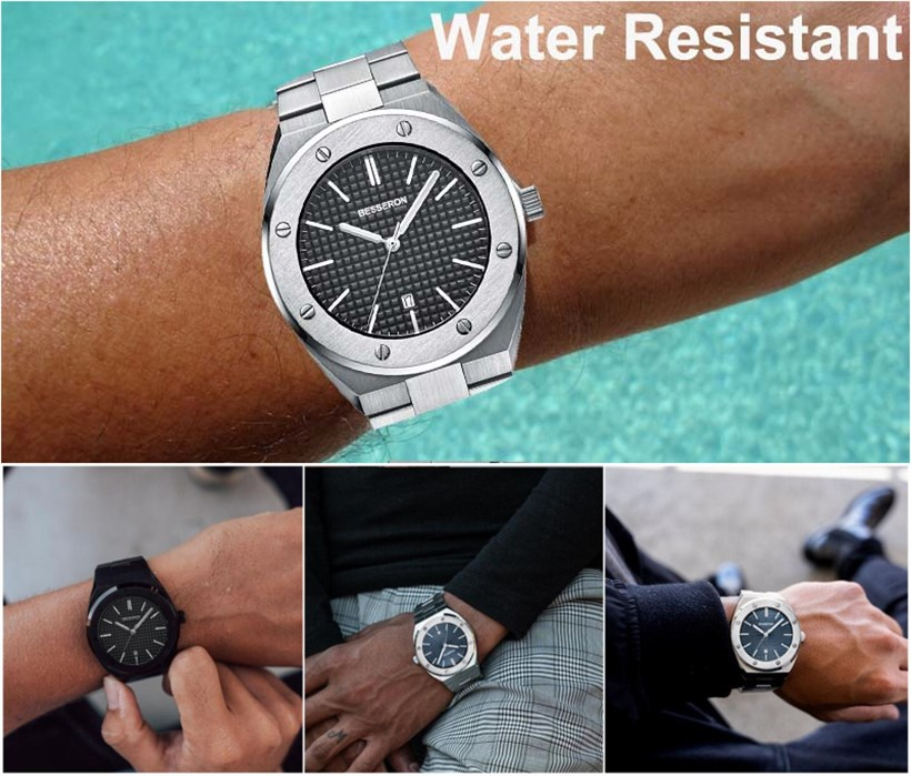 2020 Luxury Brand Men Quartz Watches Metal Band Waterproof Casual Wrist Watches for Man Sport Outdoor Clock