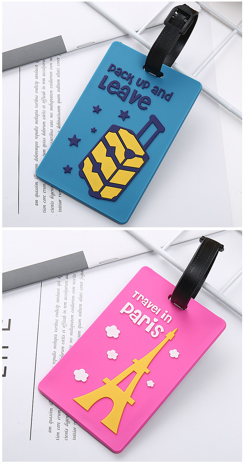2020 Wholesale Custom With Logo For Airlines Factory Soft PVC Rubber  Luggage Tag