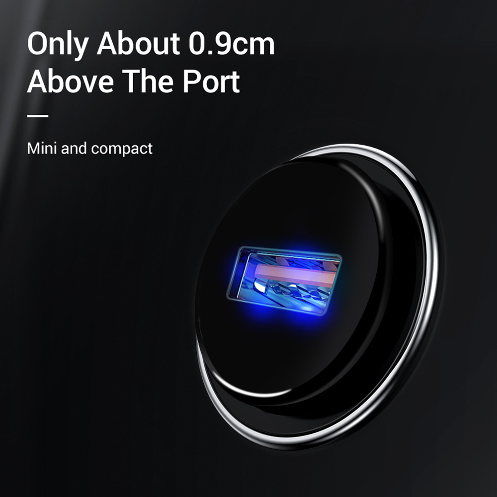 Quick Charge 3.0 2.0 Mobile Phone Charger 1 Port USB Fast Car Charger for iPhone Samsung Tablet Car-Charger