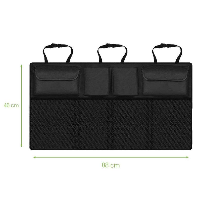 Универсальный органайзер для багажника автомобиля большой емкости, регулируемый, мульти, висящий, карманный, на заднем сиденье, Оксфорд, су...(Китай)