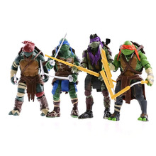2014 Teenage Mutant Ninja Turtles Film Action Figure Met Afneembare Wapens (4 Stks/pak Raphael Mickey <span class=keywords><strong>Leo</strong></span> Donnie)