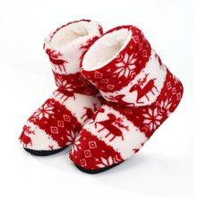 Зимние Меховые Туфли женские шлепанцы; Теплые плюшевые Вьетнамки; Рождественская домашняя обувь из хлопка; Комнатная обувь; Colette Fourrure; 2020(Китай)