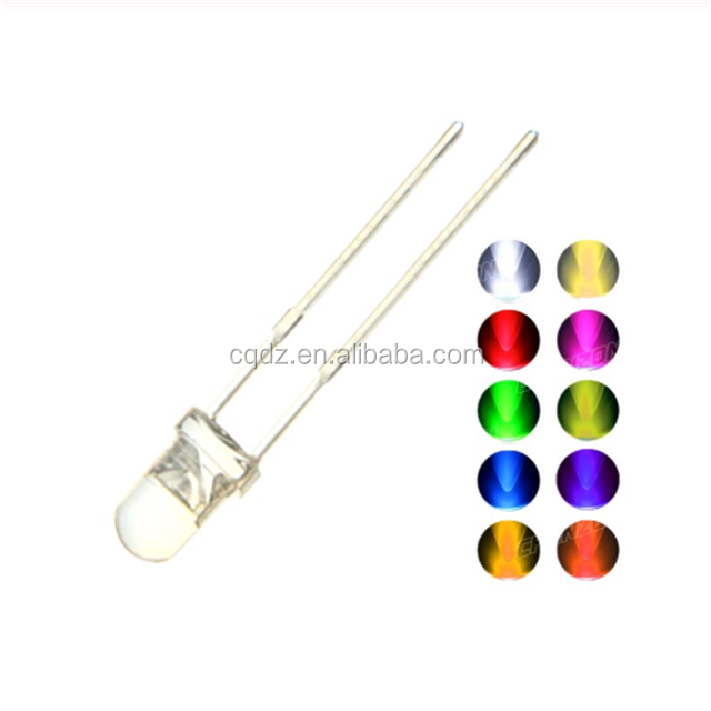 100PCS 3MM LED <strong>Diode</strong> Kit 3V DIY Set Light Emitting Warm White Green Red Blue Yellow Orange Purple <strong>UV</strong> Pink Ultra Bright 20mA