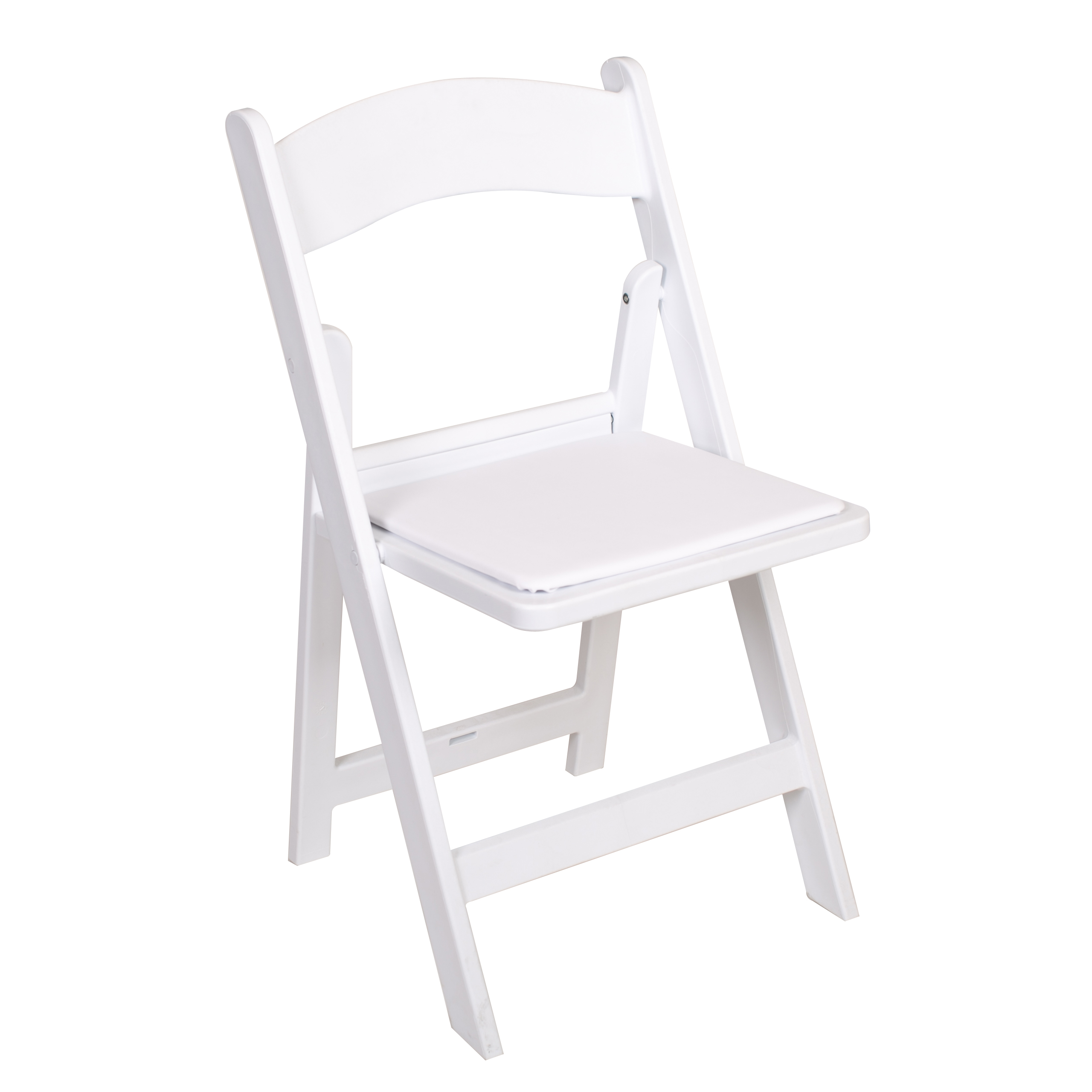 White resin wedding and event folding chair