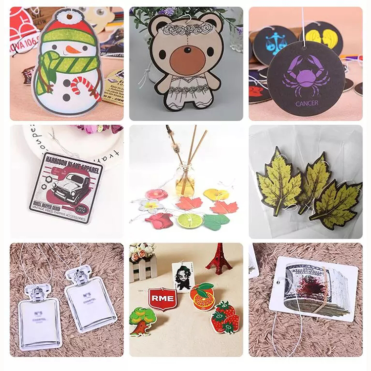 Custom Square Shape All Scents Hanging Promotion Air Freshener For Car