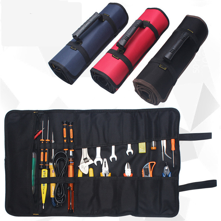 Multifunctional Lightweight Heavy Duty Electrician Rolling Tool Tote Bag with Soft Handle