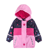 girl's raincoat children's PU leather waterproof windproof breathable door plus velvet storm coat raincoat poncho