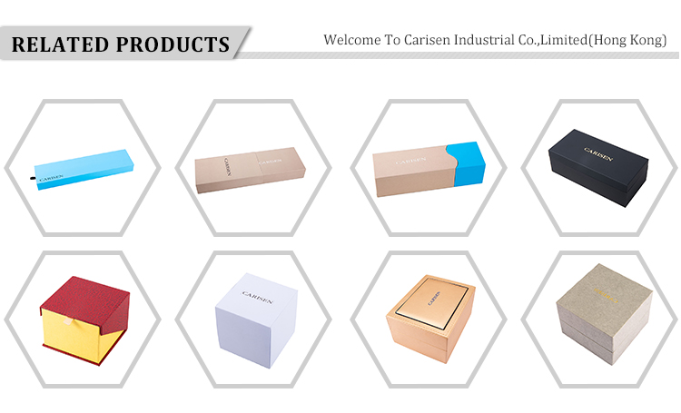 OEM カスタムロゴのギフト紙高級包装ウォッチボックス