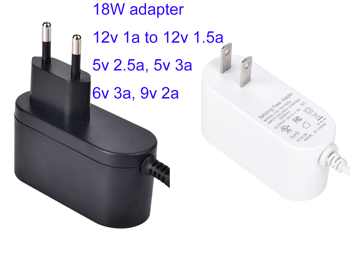Efficiency level VI 5v 1a ac dc power adapter with ULCUL FCC TUV CE