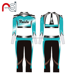 Dancing queen cheerleading uniform custom All Star performance cheer wear for girls and ladies
