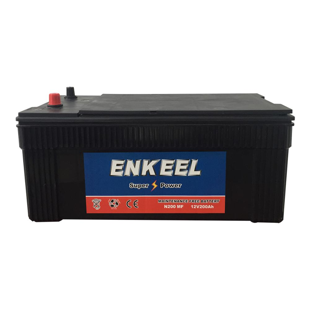 Maintenance Free Truck Battery 12v 200Ah Deep Cycly With Heavy Duty And Long Life Car Battery