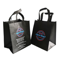 200pcs MOQ Advertising Clothing Brand Shopping Type Non Woven Custom Tote Bags