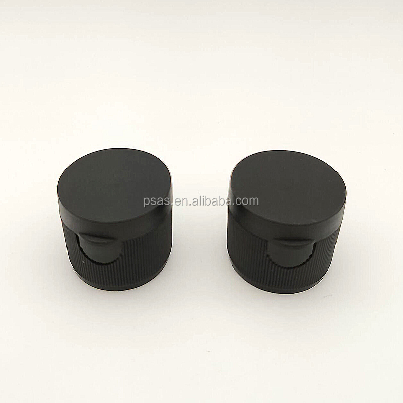 Fast delivery black white ribbed 28/410 flip top bottle cap