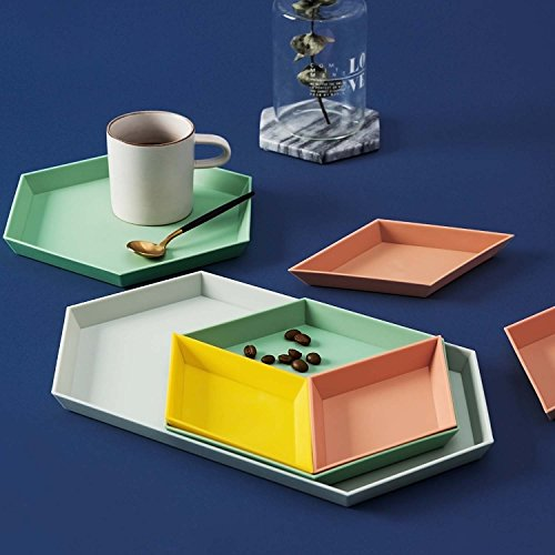 Modern Style colorful Food Serving Wood Tray  for Home Decoration