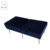 Superior Quality Blue Velvet 2 Seat Square Modern Living Room Bench