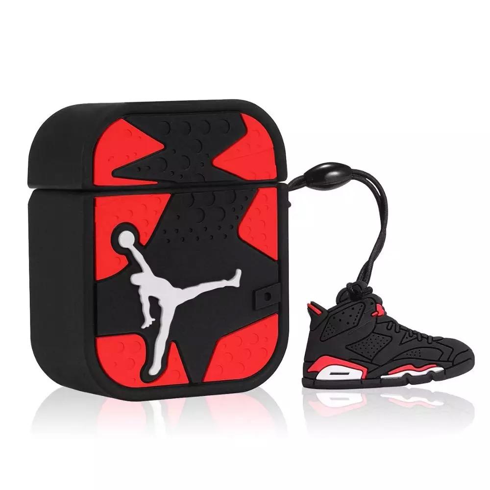 3D Divertido Luxo Design Legal Kits Caráter Caso Da Pele de Silicone Macio Bonito para airpods 2 3 Pro basquete dunking caso estilo