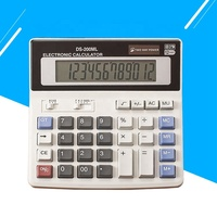 Wholesales 12 digits two way power calculator Electronic bare solar cell calculator desk office big display calculator