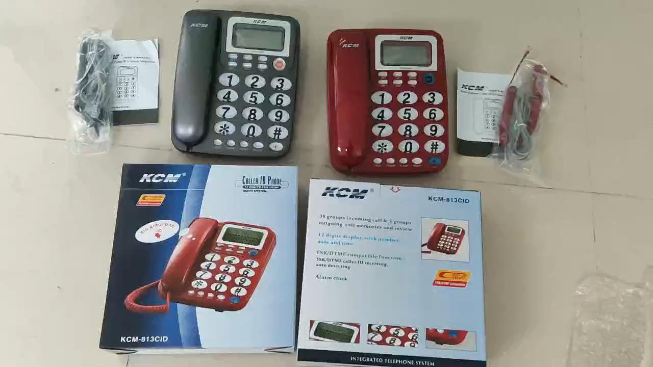 Caller ID telephone ,desk telephones set lcd display landline telephone for office home hotel