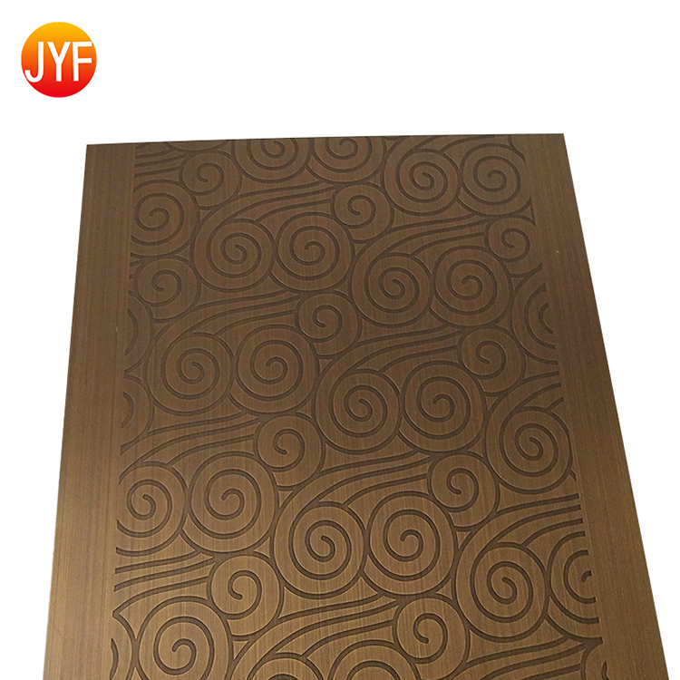 A3090 201/304/316 Red Bronze Etched Stainless Steel Decorative Sheet 316 Stainless Steel Bronze Bead Blasted Sheets