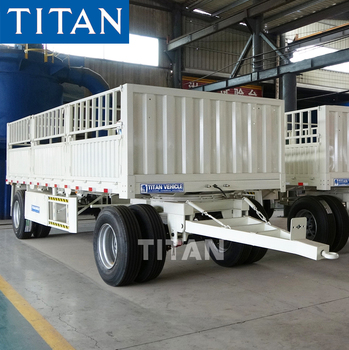 TITAN fence full trailer truck drawbar trailers tanker for sale