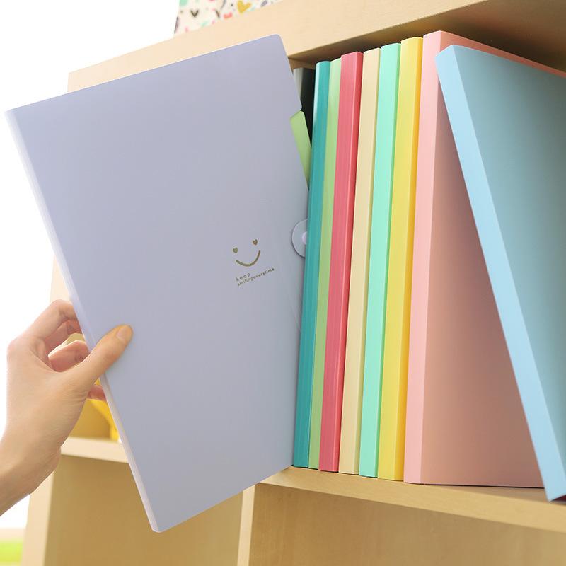 Expanding File Folders Document Organizer A4 Plastic File Folder 5 Pocket Snap Closure Document Organizer Sets for School
