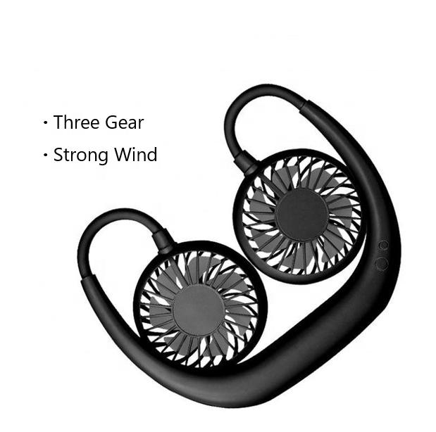 OEM Outdoor Sports Portable Folding Hanging Neck LED Charging USB Mini Fan