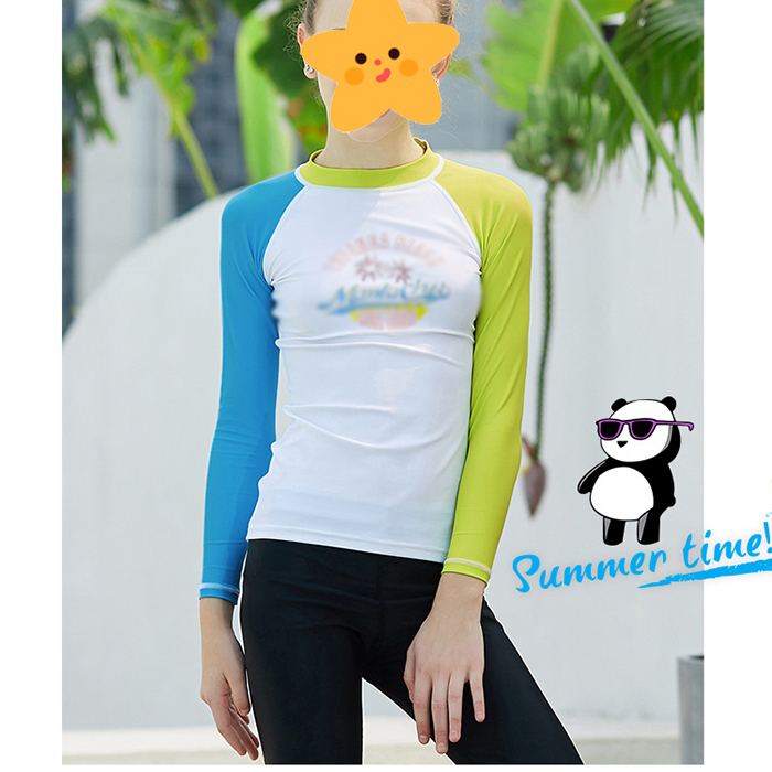 teen sun protection long sleeve rashguard sports UPF50 rash guard for women