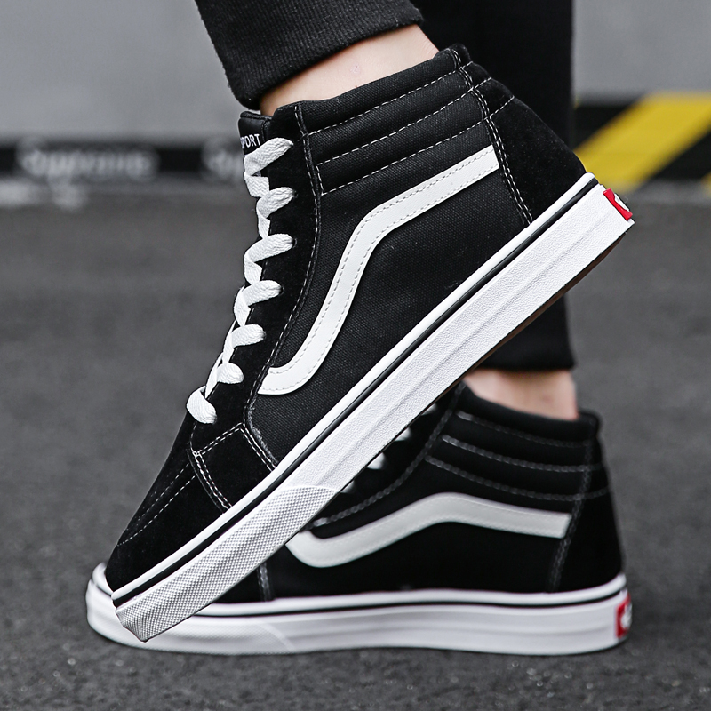 Autumn winter 2020 outdoor fashion casual shoes men's high top cotton board shoes