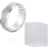 Stock mens ring size adjuster for ring size loose