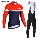 PHMAX Sexy Bid Road Bike Reflective Wear Santic Soomon Sport Wholesale Sialkot Long Sleeve Oem Clothes Pro Men Cycling Jersey