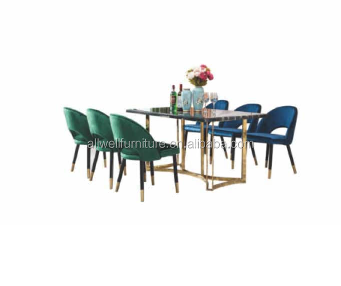 Round marble top dining table set 4 chair