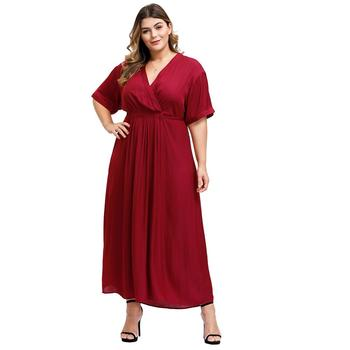 sexy deep V-neck maxi elegant big size plus size women casual sashes prom evening dresses