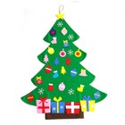 Wholesale felt Xmas Decoration Gifts DIY Felt Christmas Wall Tree With Ornament Set For Kids