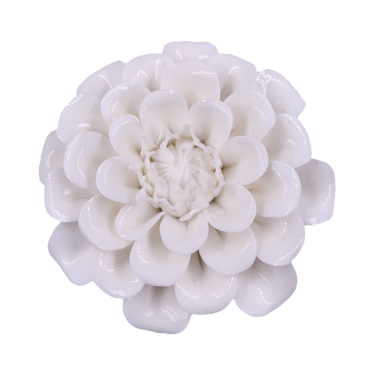 Promotion of custom artificial rose ceramic flower wedding wall wholesale