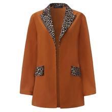 ZANZEA женский лоскутный Леопардовый Блейзер размера плюс с отворотом, женские весенние блейзеры, повседневные плотные пальто, деловые куртки...(Китай)