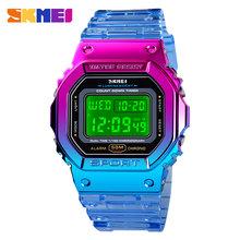 SKMEI светодиодный светильник, женские цифровые часы, 5 бар, водонепроницаемые спортивные часы, секундомер, женские наручные часы, Relogio Feminino(Китай)