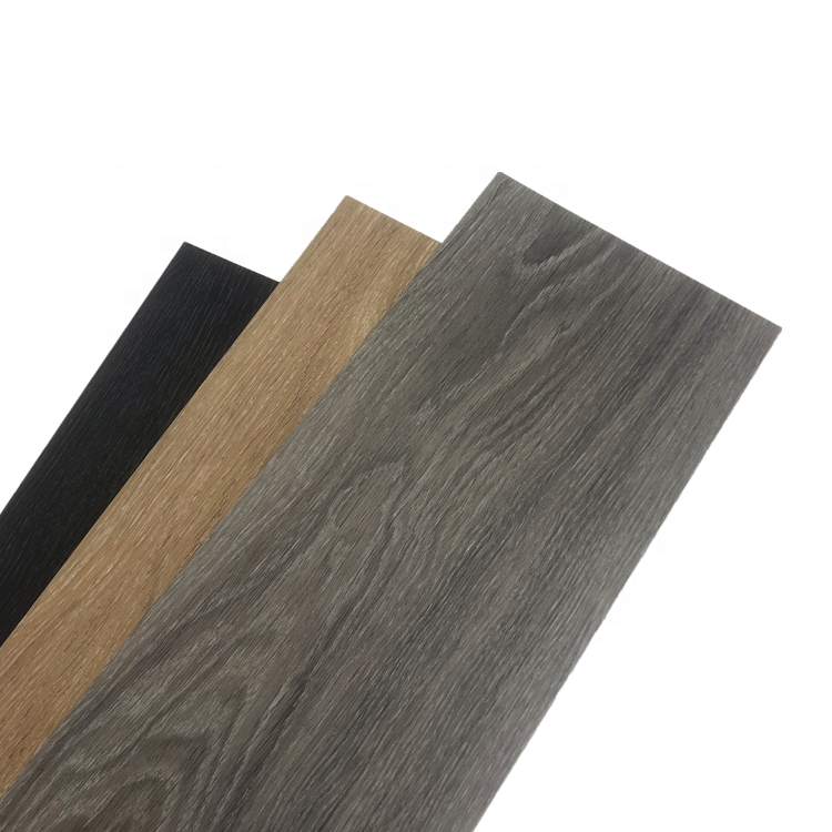 PVC grau Parkett Stein optik Vinyl Dielen boden nicht rollen Kork rücken lvt dunkle Eiche Effekt Laminat boden