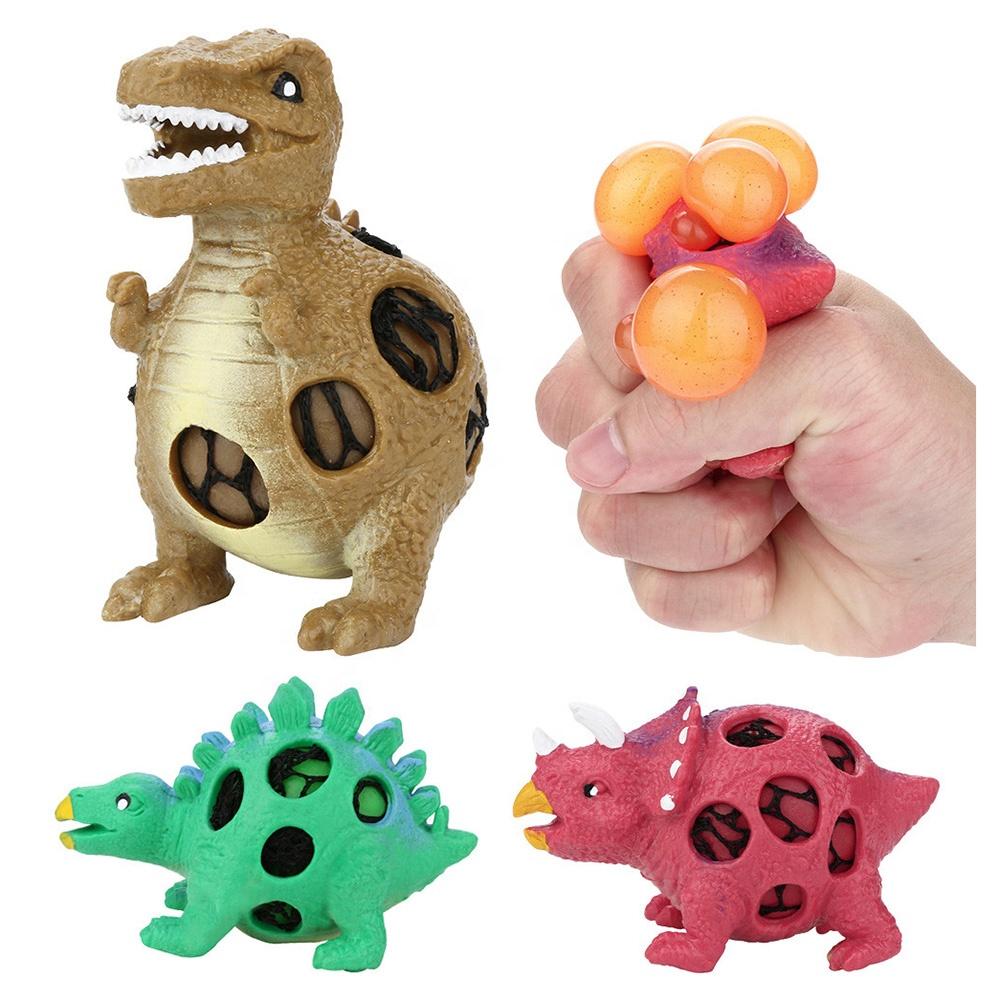 Изготовленный На Заказ сброса давления Дракон стресс Резина TPR резиновые мячи из мягкой PU искусственной кожи винограда Анти динозавр мягкий мячик