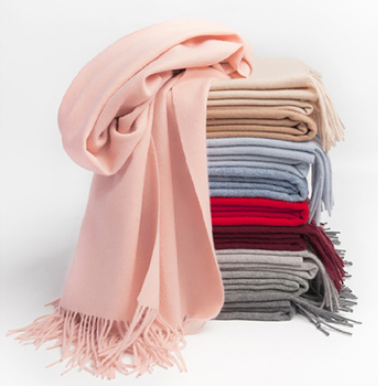 High Quality Winter Soft Pashmina Scarf Scarves Shawls Warm Wholesale Custom Plain Tassel 100% Wool Cashmere Scarf For Women