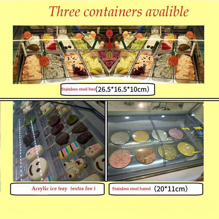 Visualizzazione gelato ice cream display freezer usato gelato frigorifero display freezer