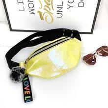 Поясная Сумка из лазерной кожи Yogodlns для женщин, сумки с нагрудным ремнем, новые светоотражающие дорожные сумки для девочек, мини-сумочка, кр...(Китай)