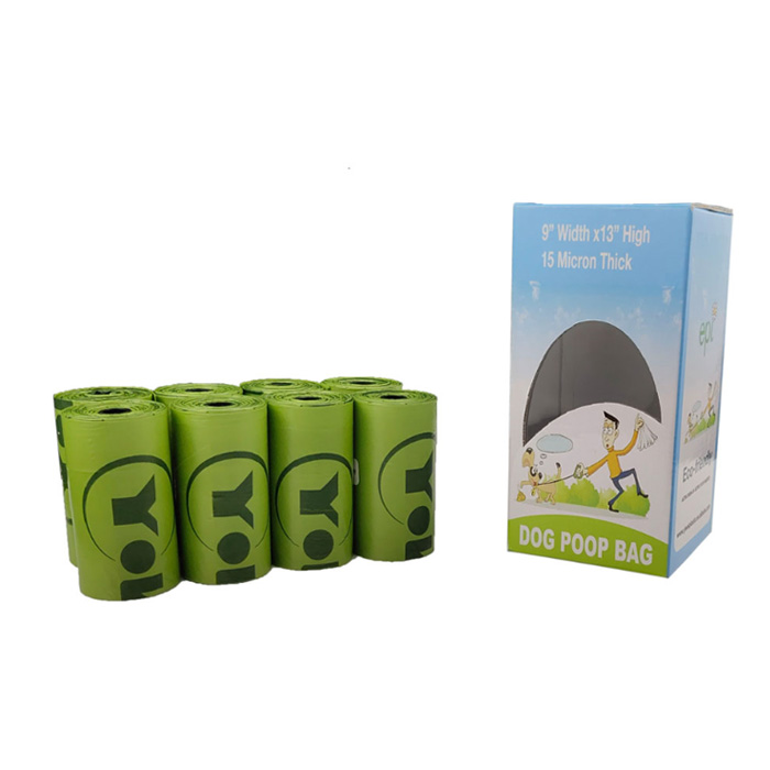 custom printed boxes biodegradable dog poop disposal bag with picker compostable dog dirt bags
