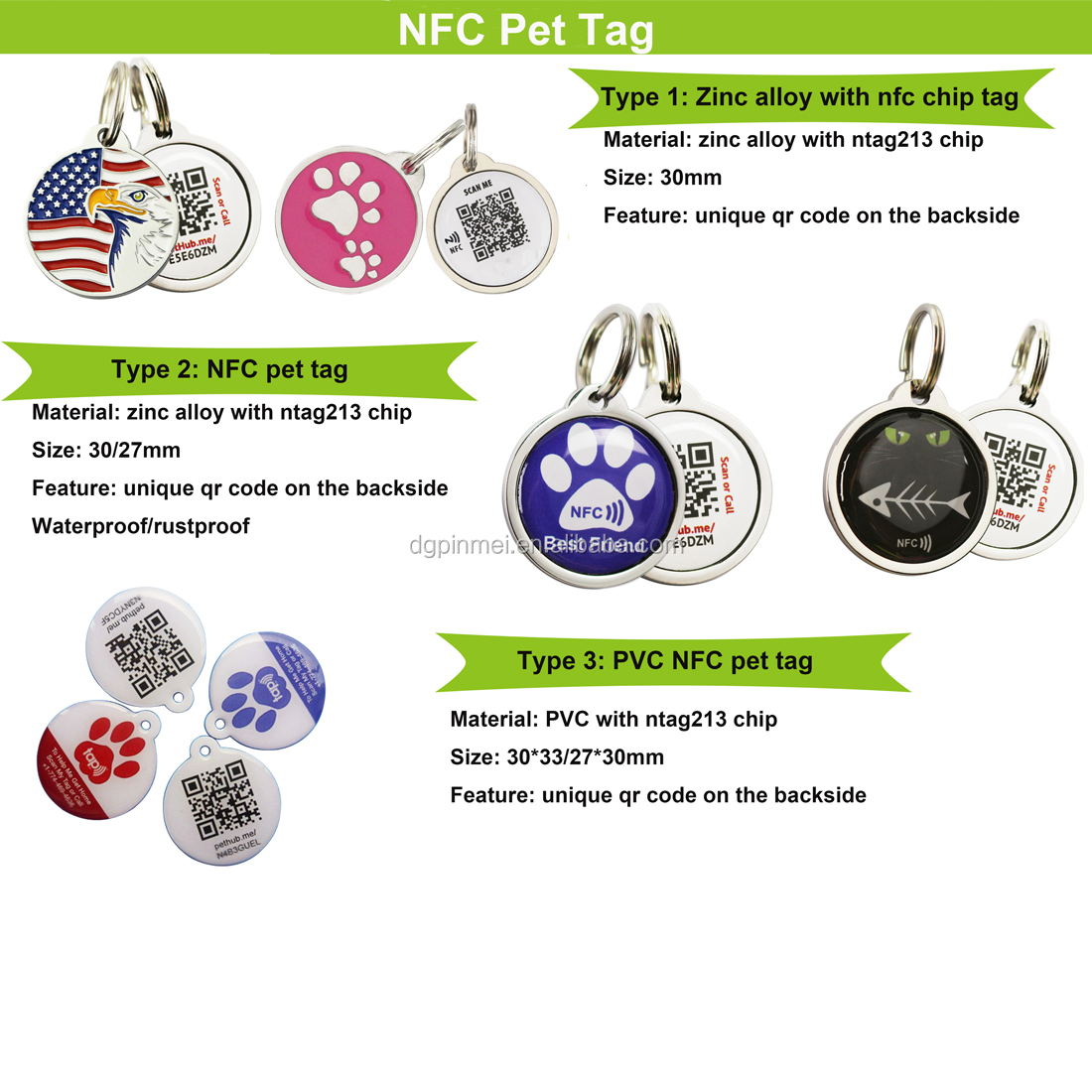 Personal Custom Round Metal Dog/Pet/Tag